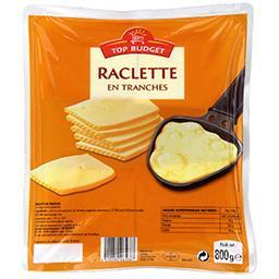 Fromage à raclette en tranches