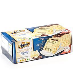 Le feuilleté glacé - vanille et morceaux de chocolat