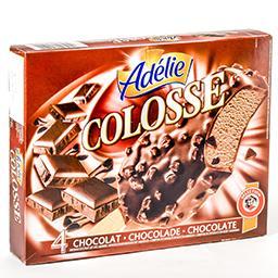 Colosse - glasse chocolat enrobée de chocolat lait e...