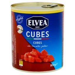 Cubes de tomates pelées
