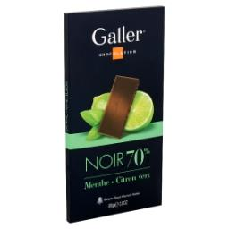 Chocolat noir 70% - menthe citron vert