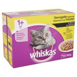 Aliment pour chat à la volaille en sauce - 3x au pou...