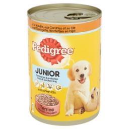 Junior - terrine pour chiots à la volaille, carottes...