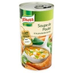 Soupe de poulet à la poularde tendre
