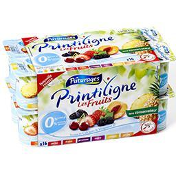 Yaourt maigre 0% aux fruits - cerise, pruneau, frais...