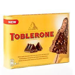 Glace goût chocolat-miel - avec morceaux de Tobleron...
