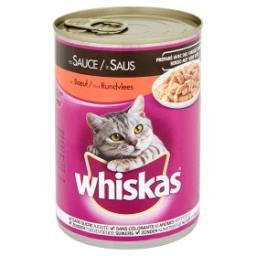 Aliment pour chats en sauce au bœuf