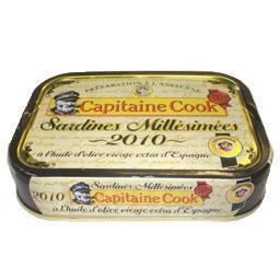 Sardines millésimées 2009, à l'huile d'olive vierge ...
