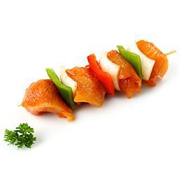 Brochettes de dinde poivrons et oignons