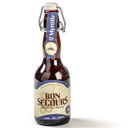 Bière de myrtilles refermentée en bouteille