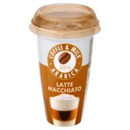 Boisson au lait avec crème et café - goût latte macc...