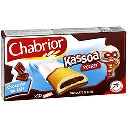 Biscuits Kassoa Pocket chocolat au lait