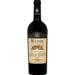 Médoc boisé, vin rouge