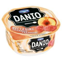 Spécialité au fromage frais à la nectarine et frambo...