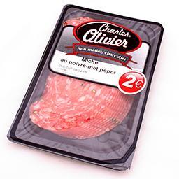 Miche - salami au poivre