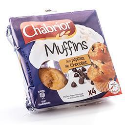 Muffins goût vanille et pépites de chocolat
