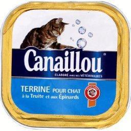 Terrine à la truite et aux épinards pour chats