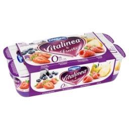 Yaourt à 0% - myrtille, fraise, framboise, poire