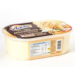 Glace vanille - macadamia - sauce au caramel