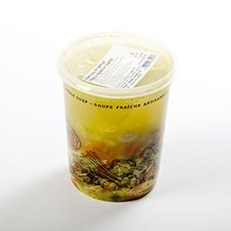 Potage aux légumes avec boulettes