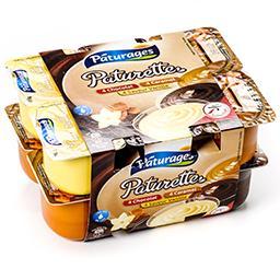 Paturette - crème dessert au saveur chocolat, vanill...