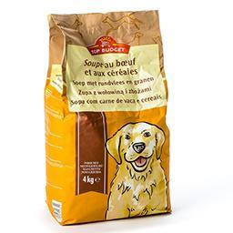 Soupe pour chiens au bœuf et aux céréales