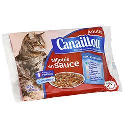 Mijotés en sauce aux poissons pour chat adulte