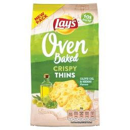Oven crispy thins olive oil and herbs - biscuits sal...
