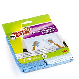 Tissu pour nettoyer - microfibre - kit pour vitres -...