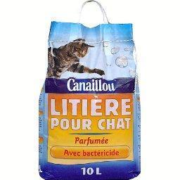 Litière minérale pour chats
