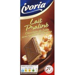 Lait praliné, chocolat au lait fourré