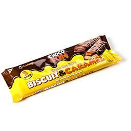 Snack size bars - biscuit et caramel