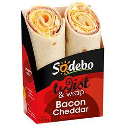 Twist and wrap bacon cheddar