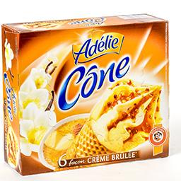 Cônes de glace - façon crème brûlée