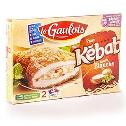 Pané kebab - sauce blanche - sans exhausteur de goût...