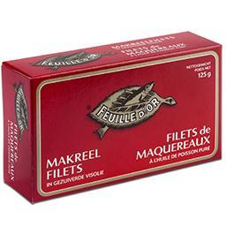 Filets de maquereaux à l'huile de poisson pure