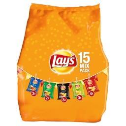 Chips 15 paquets - mix de 5 goûts