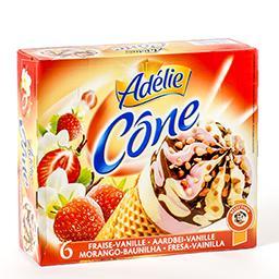Cônes de glace - fraise-vanille