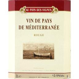 Vin rouge de pays de méditerranée