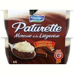 Paturette mousse à la liégeoise au chocolat, à la cr...