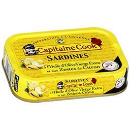 Sardines à l'huile d'olive & aux zestes de citron