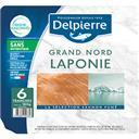 Delpierre Saumon fumé Laponie le paquet de 6 tranches - 180 g