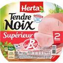 Herta Tendre Noix - Jambon supérieur Label Rouge la barquette de 2 tranches - 70 g