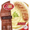 Claude Léger Saucisse grillée purée de pomme de terre sauce mouta... la barquette de 300 g