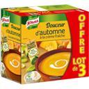 Knorr Soupe Douceur d'automne à la crème fraîche les 3 briques de 1 l