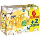 Yoplait P'tit Yop - Yaourt à boire goût vanille les 6 bouteilles de 180 g