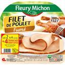 Fleury Michon Filet de poulet fumé les 2 barquettes de 4 tranches - 360 g