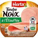 Herta Tendre Noix - Jambon charcutier la barquette de 2 tranches - 80 g
