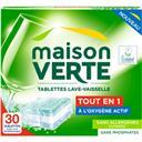 Maison Verte Tablettes lave-vaisselle tout en 1 les 30 tablettes de 18 g