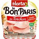 Herta Le Bon Paris - Jambon qualité supérieure au torchon la barquette de 4 tranches - 160 g